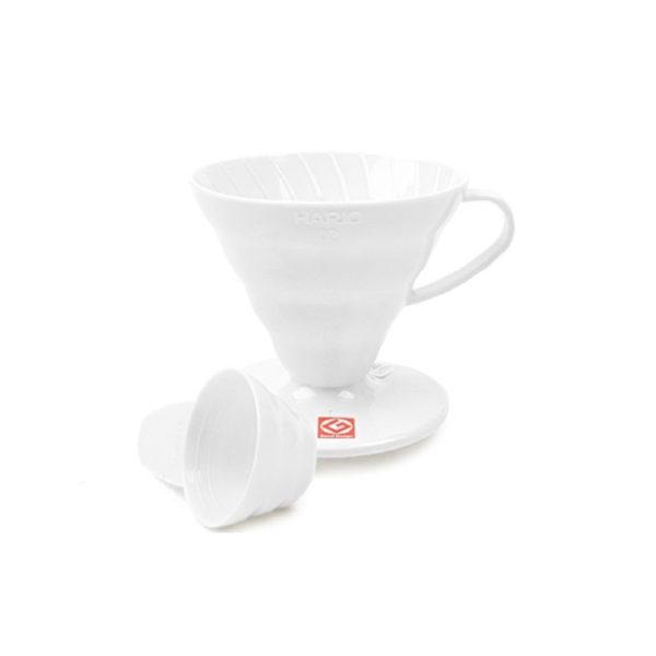 V60 pour-over white plastic