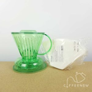 Clever dripper small transparent green with paper filters