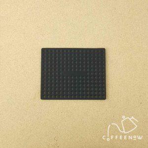 LED lit coffee timer scale rubber matt