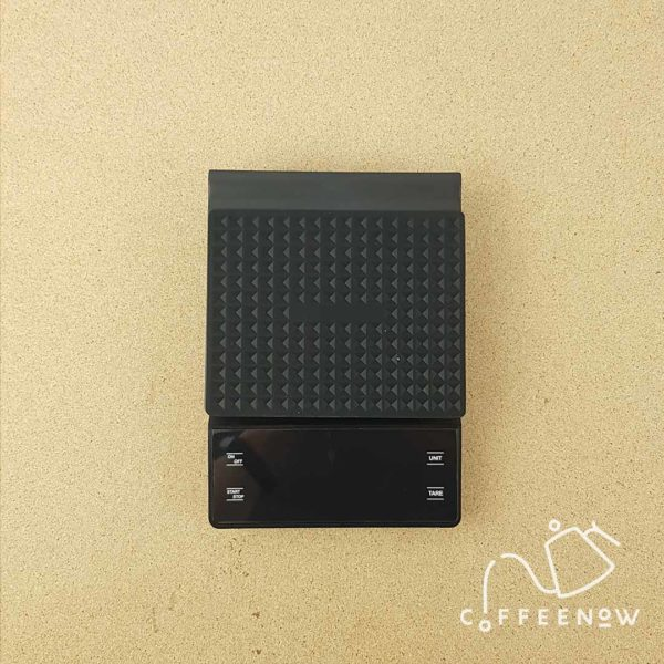LED lit coffee timer scale top